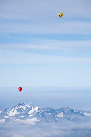 Alpin-Ballonfahrt