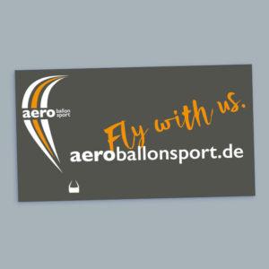 "Aufkleber, Schlüsselband ""Aeroballonsport"" + Überraschung"