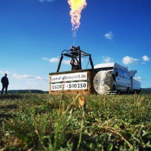 Startvorbereitungen Aeroballonsport Fahrten im Heißluftballon Teutoburger Wald Ballooning