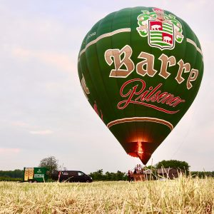 Ballonfahrt Privatbrauerei Barre Pilsener D-OOBB