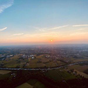 Sonnenuntergang aus dem Heissluftballon