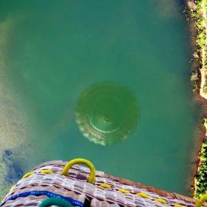 Ballon Barre Bräu Spiegelung im Wasser