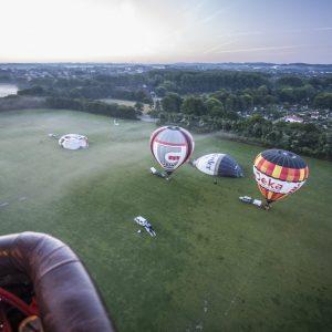 Start zur Ballonfahrt
