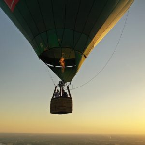 Air-Air View währen einer Ballonfahrt über dem Kreis Gütersloh