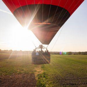 Landung im Brötje Ballon