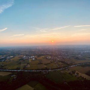Sonnenuntergang Ballonfahren