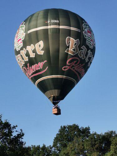 Der Barre Pilsener Heissluftballon