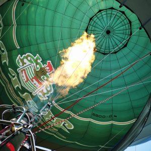 Feuer Einschweben zur Landung Privatbrauerei Barre Heißluftballon