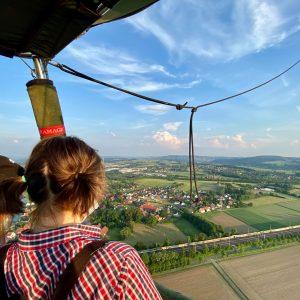 Ausblick aus dem Ballonkorb