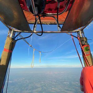 Blick aus dem Cockpit Brötje Heißluftballon